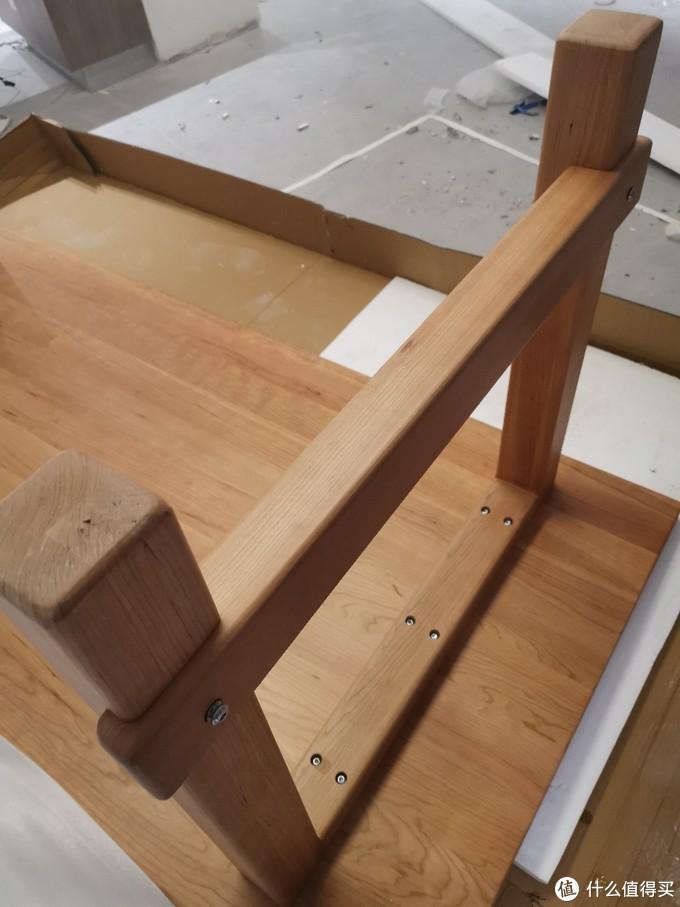 樱桃木大板桌简易安装体验