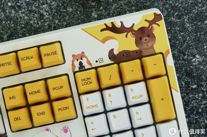 软绵绵的小动物萌化你的少女心——黑爵毛茸茸键盘测评