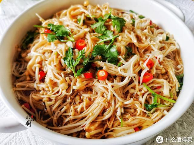 金针菇最好吃的做法,简单一拌,营养又美味,比吃肉还过瘾