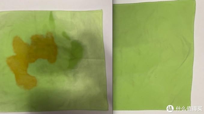 左图:洗前,右图:洗后,还未晾晒