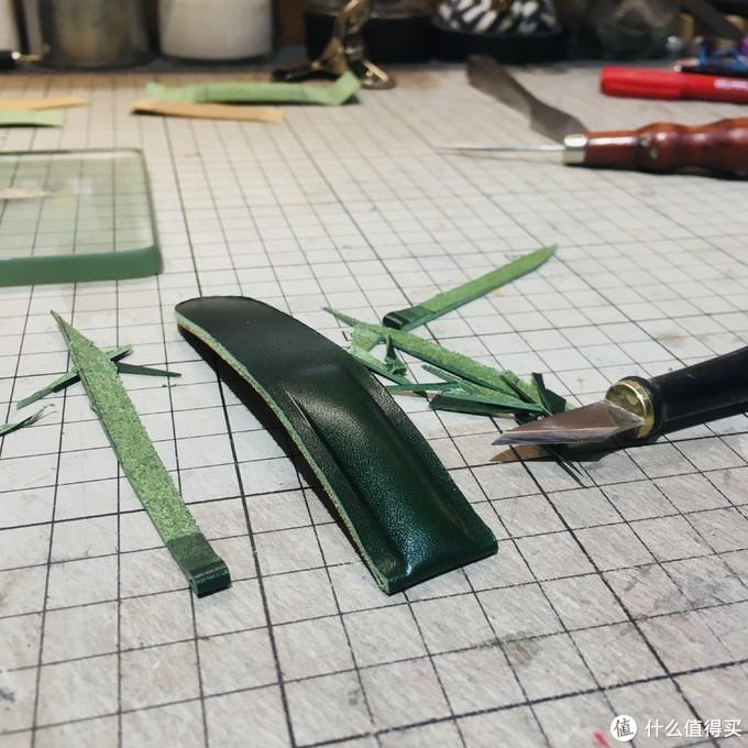 《墨绿色|手工表带制作》