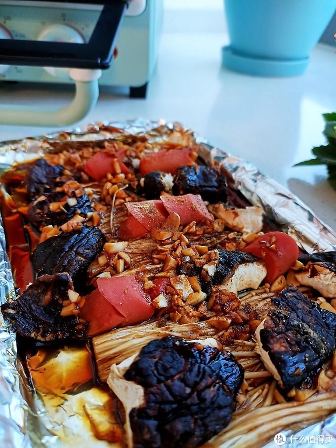 锡纸金针菇香菇火腿肠