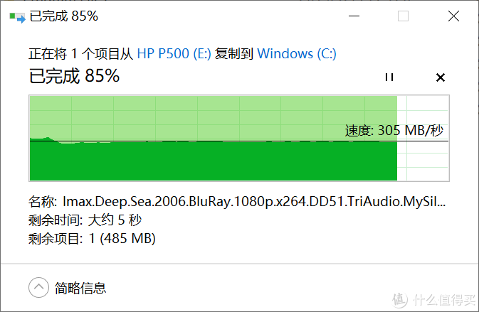 无惧后浪的上下翻腾左右摇摆,HP惠普P500豪华1T移动固态硬盘读写稳得很
