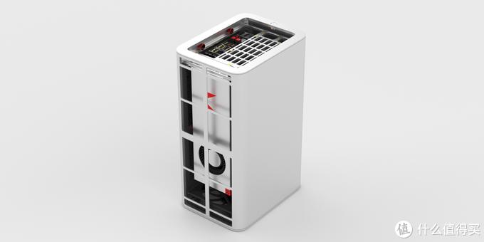 ↑与实物图不同,显卡朝后可以实现让显卡拥有更大的进风量。