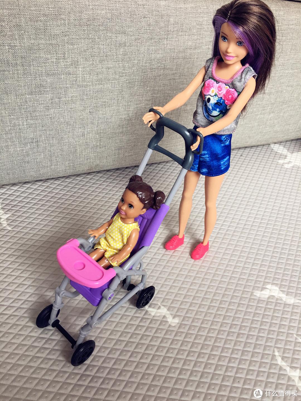 辣妈萌娃  芭比小小育婴师推车组合晒单