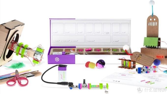 配图为Littlebits的电路玩具