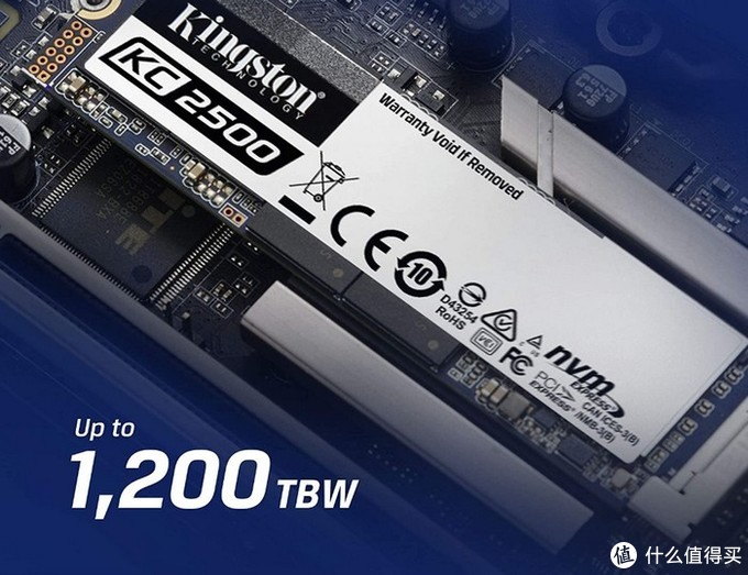 NVMe 1.3协议高速读写:金士顿KC2500 M.2 SSD固态硬盘上架开售,96层TLC闪存5年质保