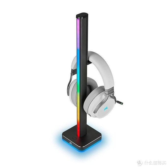 美商海盗船发布iCUE LT100霓虹耳机挂架,支持强大iCUE背光系统
