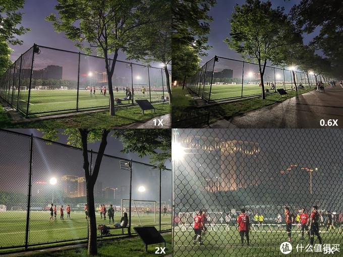 碰到了夜晚的灯光球场,vivo X50 Pro在逆光的表现下也很好,5X变焦甚至能看清每个球员的动作。