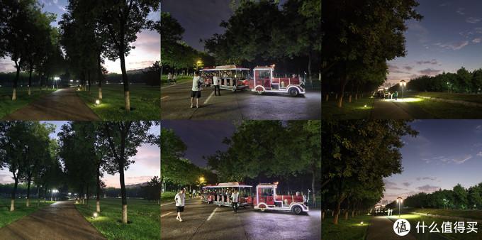 有了微云台的帮助,多张曝光堆栈合成的超级夜景功能也更加堪用,打开超级夜景模式,手持拍摄大概3秒,就得到一张明暗部都清晰明亮的超级夜景图片。