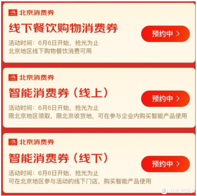 北京消费券种类