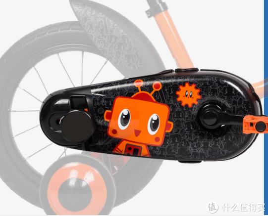 宝宝的新座驾—迪卡侬14寸btwin儿童自行车(机器人罗伯特款)