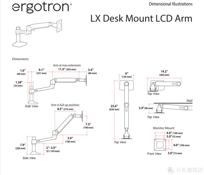 爱格升 Ergotron lx45-241-026 显示器支架开箱与体验