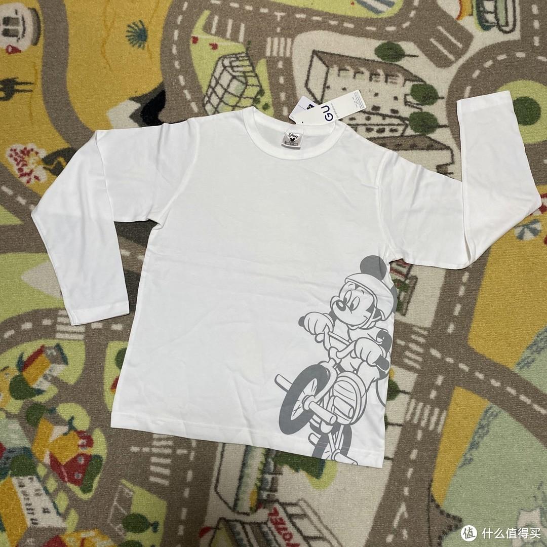 Disney合作款GU极优儿童长袖T恤