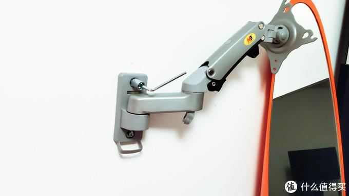 简单好用,气压悬停:NB F150 显示器壁挂支架晒单