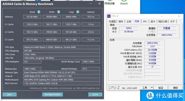 AIDA64内存缓存测试截图(3800MHz)
