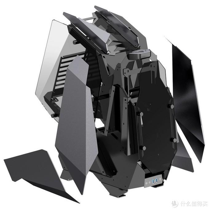 """乔思伯发布MOD-5""""机甲战士Ⅱ""""开放式机箱:三路水冷、华丽RGB背光"""