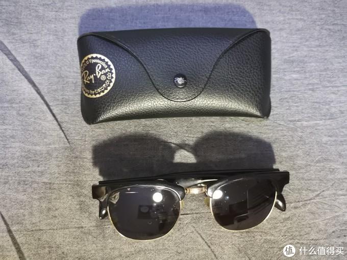 雷朋的眼镜盒+自配近视太阳镜