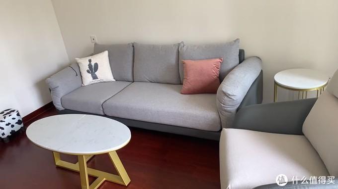 沙发是皮布结合的