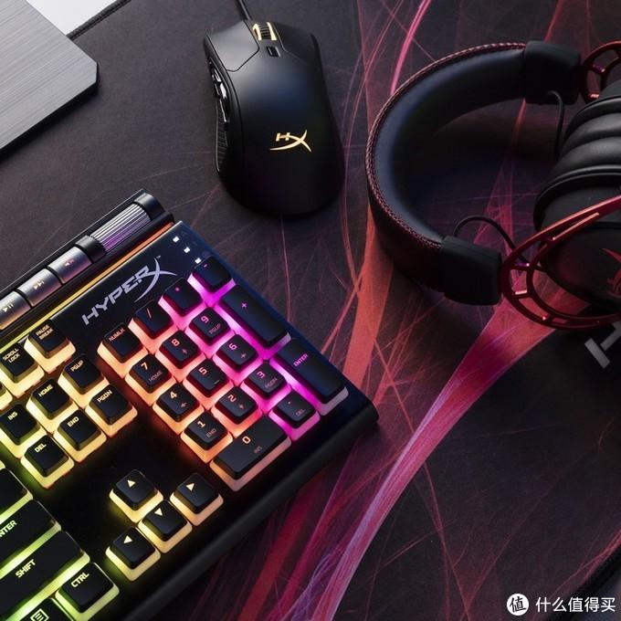 布丁键帽、自研红轴、砍掉掌托:金士顿推出HyperX Alloy Elite 2阿洛伊精英2游戏机械键盘