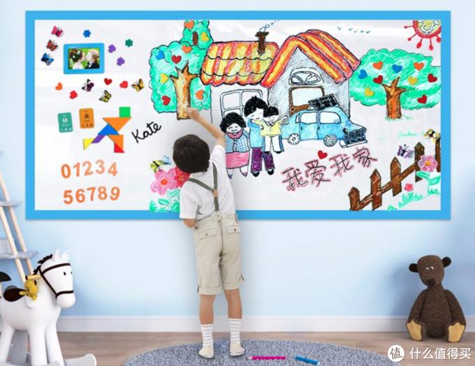 孩子在墙上乱画怎么办?白墙拯救者—家用白板了解一下