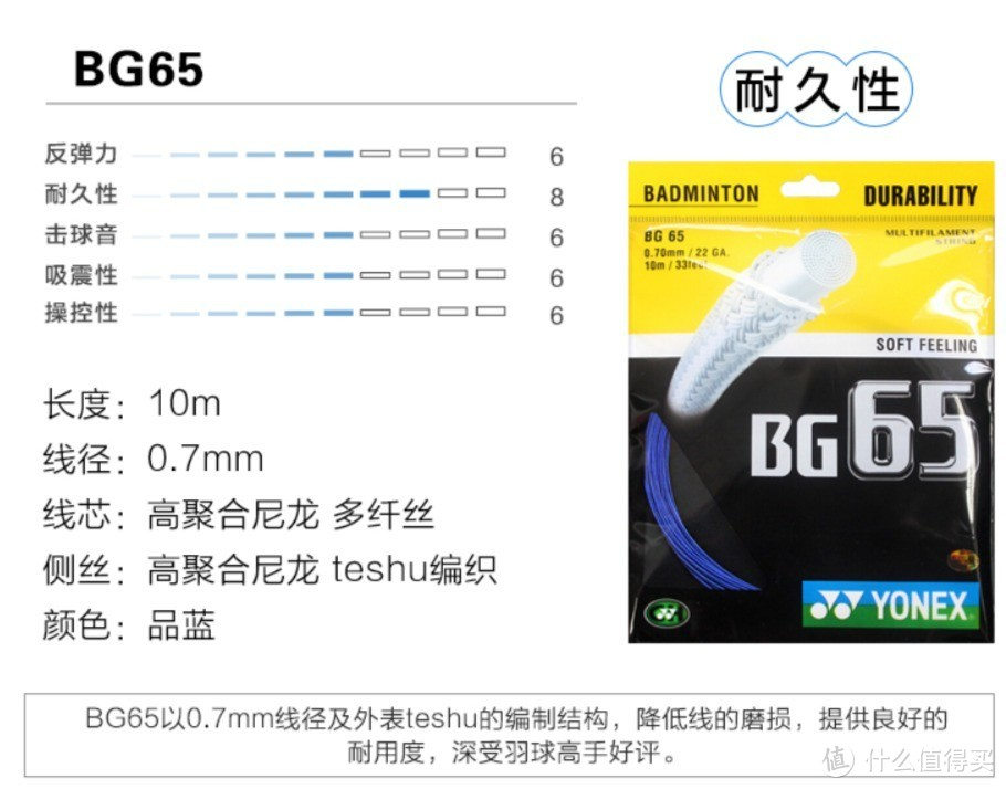 尤尼克斯BG65 说明