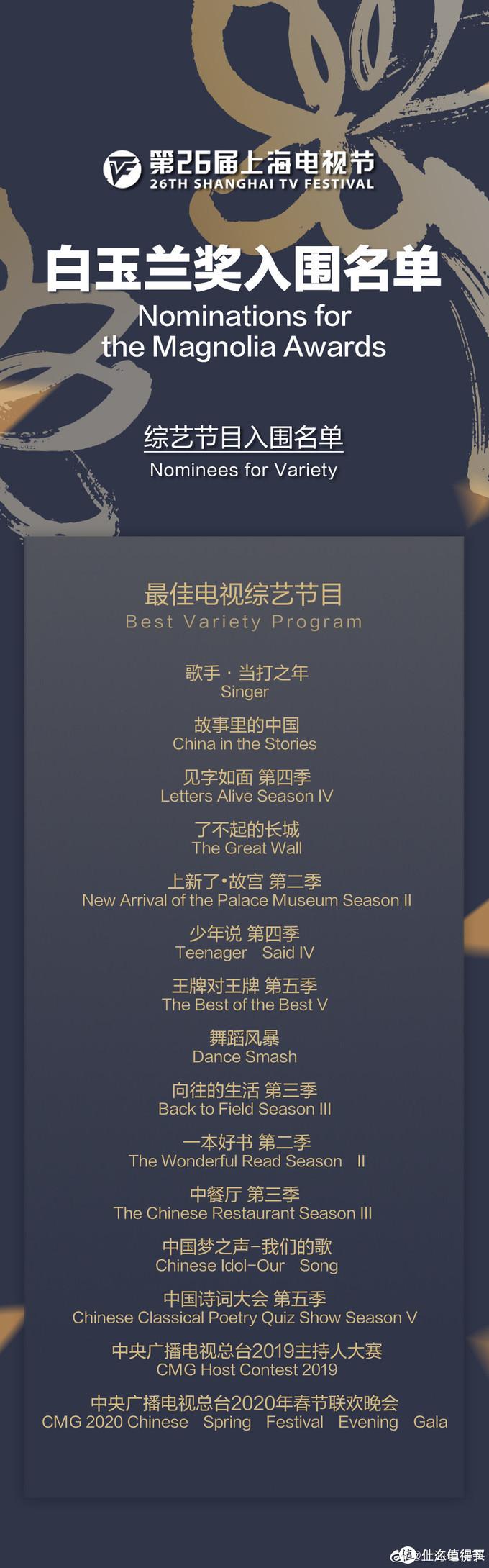 第26届上海电视节白玉兰奖入围全名单公布,《长安十二时辰》《庆余年》《破冰行动》获多项提名,《鬼灭之刃》在列
