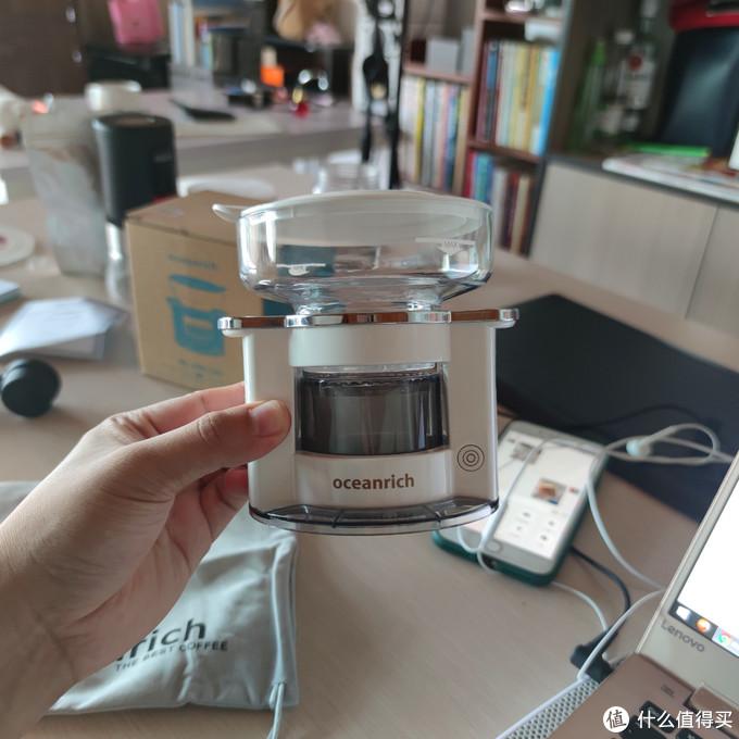 oceanrich/欧新力奇全自动滴漏美式便携咖啡机家用小型手冲萃取杯上手体验