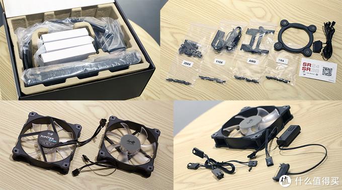 迎广(IN WIN)SR24 一体式CPU水冷散热器 内包装及配件
