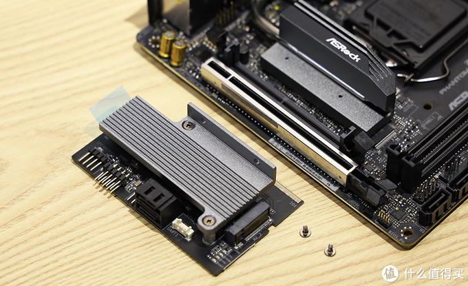 华擎 Z490 Phantom Gaming-ITX/TB3 垂直M.2安装架 分体式设计