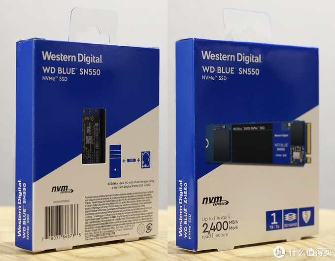 西部数据 WD Blue SN550 外包装