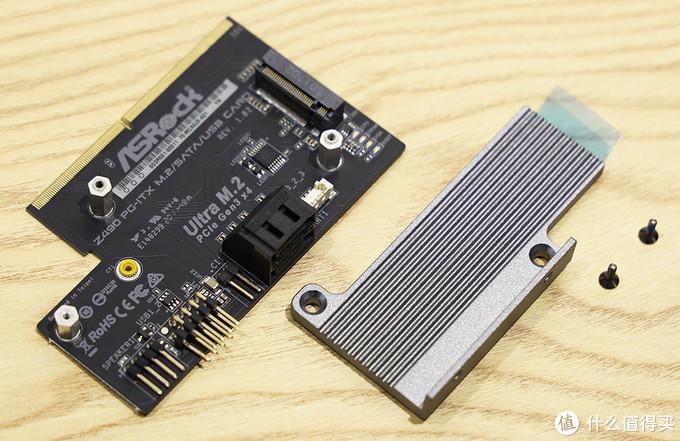 华擎Z490 Phantom Gaming-ITX/TB3 垂直M.2安装架 拆解