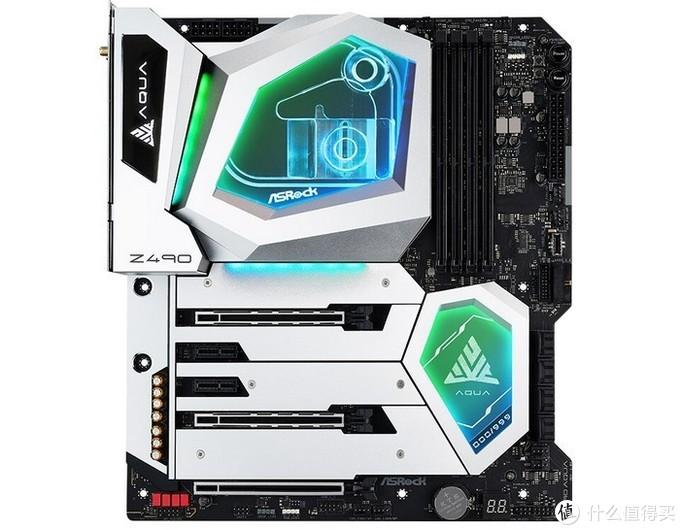华擎正式发布Z490 AQUA顶级发烧水冷主板:OLED屏显、一体水冷、万兆LAN、16相供电