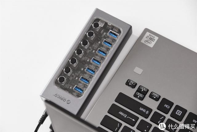 独立电源分控开关,群控USB3.0,这款HUB笔记本必备