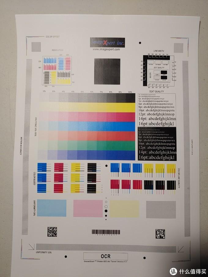 157g的亚光铜版纸打印出来的测试页,效果会好一点,但是我觉得差别不会太大。。