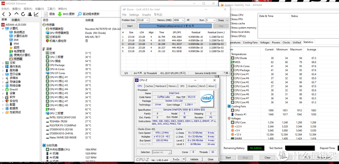 Linx0.95满载下核心温度读数最高95度
