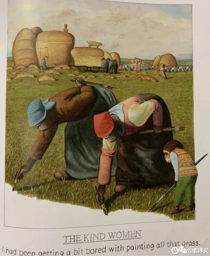 """这张图的原型,桔子妈想了半天(桔子妈艺术底蕴真得有点低)。还好,布朗先生在书的最后一页附了介绍。(From """"Willy's Pictures"""")"""