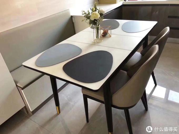 今日分享轻奢极简风餐桌(可伸缩的哟)