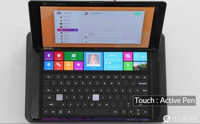 LG展示13.3英寸柔性屏可折叠本,小巧易便携,还有贴心状态栏