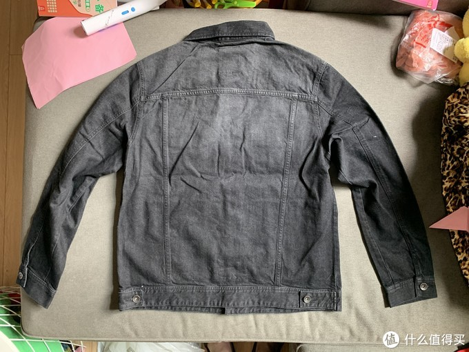 图书馆猿の白菜价 senmir 森马 11A019081059 男士牛仔外套工装风夹克 简单晒