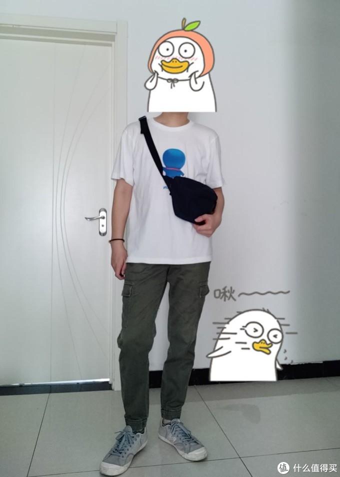 深绿工装束脚裤➕哆啦A梦UT