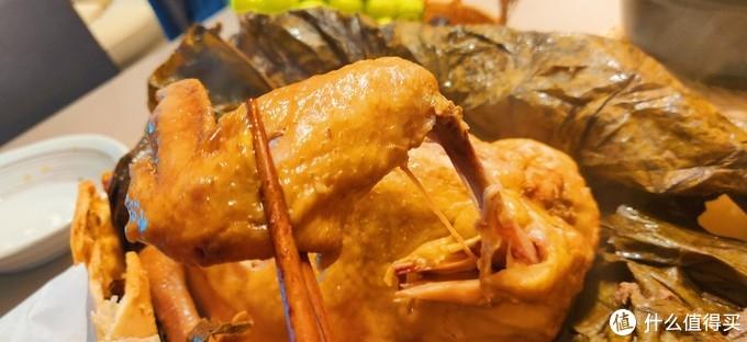 家庭版松茸荷香叫化鸡,筷子一拨就脱骨!