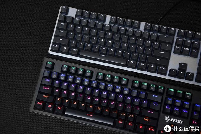 微星GK50 Z、罗技K845,一个适合新手,一个适合小资