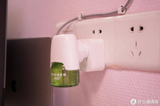↑智能插座定好晚上开启,早上关闭,可以有效节约蚊香液
