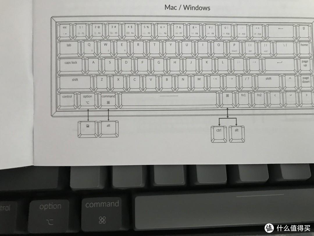 Mac与win切换键帽示意,如果能在同一键帽上做双系统键位标示应该会更好,不过这样的设计非常简洁明了。