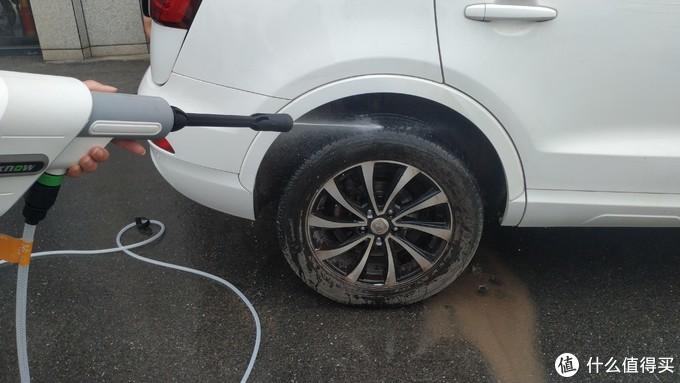 高压档清洗车轱辘残留泥沙