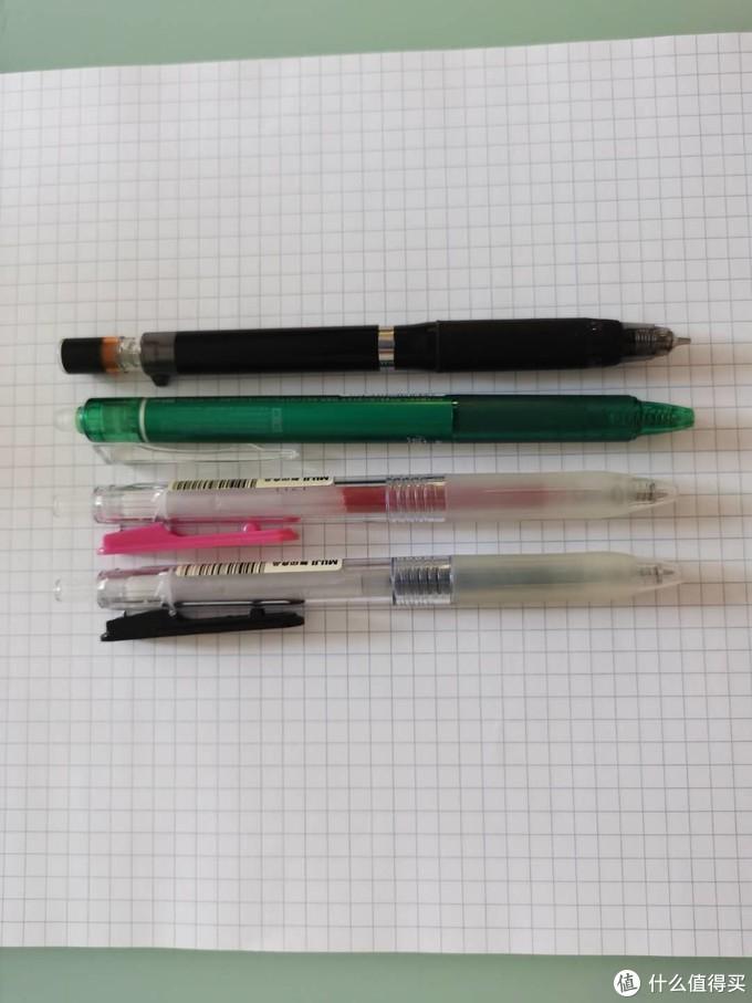 派通自动铅笔、百乐擦擦笔、Muji签字笔*2 用来应对其他日用需要。虽然没有尝试过日系的钢笔,但是单就自动铅笔和滚珠笔的使用感觉来讲,真的是非常棒。