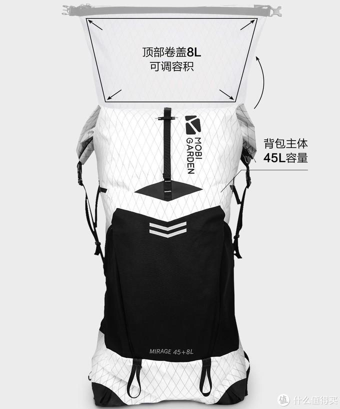 MOBI GARDEN 牧高笛 即将发售 Mirage 幻影 45L+8L 超轻户外背包