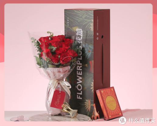 七夕怎么少得了玫瑰花:FLOWERPLUS花加上新七夕节玫瑰鲜花礼盒