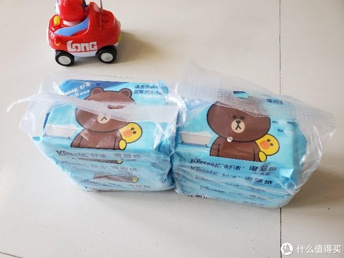 京东四块七一包入手的舒洁 LINE FRIENDS 湿厕纸40片 开箱